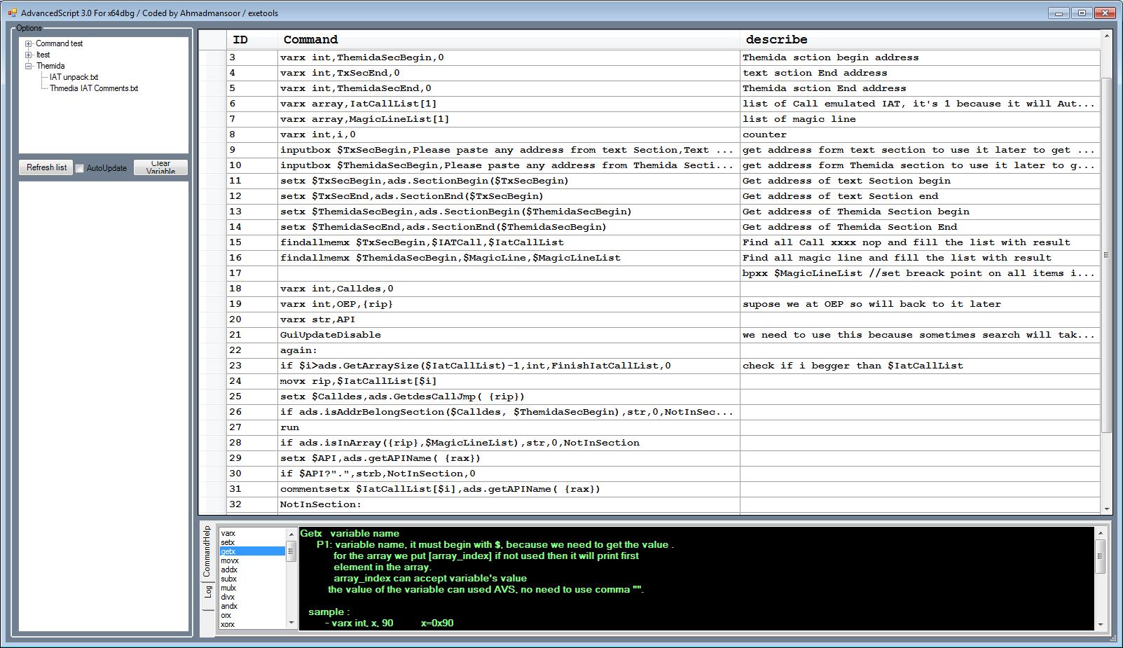 AdvancedScript x64dbg Plugin - x64dbg - Tuts 4 You